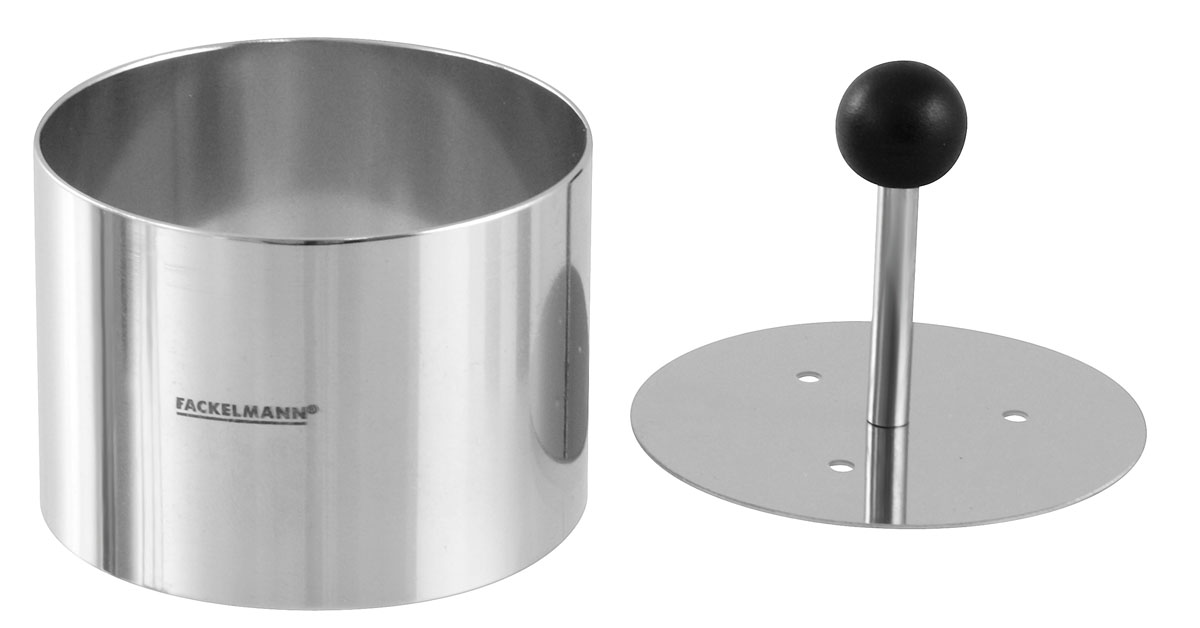 """Фото Кольцо для формовки салатов и десертов """"Fackelmann"""", с прессом, диаметр 6 см"""
