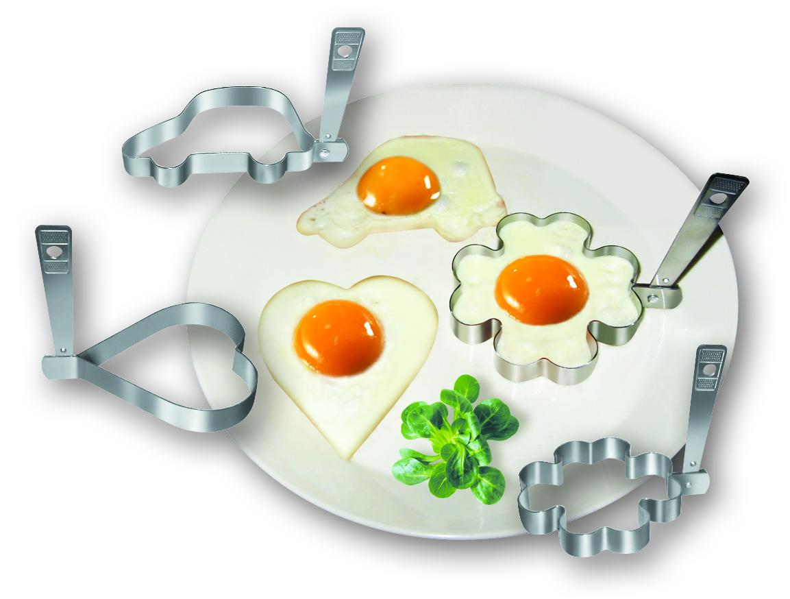 """Форма """"Fackelmann"""" выполнена из нержавеющей стали и предназначена для приготовления фигурной яичницы. Удивите ваших близких, приготовив яичницу такой необычной формы. Размер формы (ДхШхВ): 9,5 см х 9,5 см х 1,5 см. УВАЖАЕМЫЕ КЛИЕНТЫ! Обращаем ваше внимание на ассортимент в дизайне товара. Поставка осуществляется в зависимости от наличия на складе."""