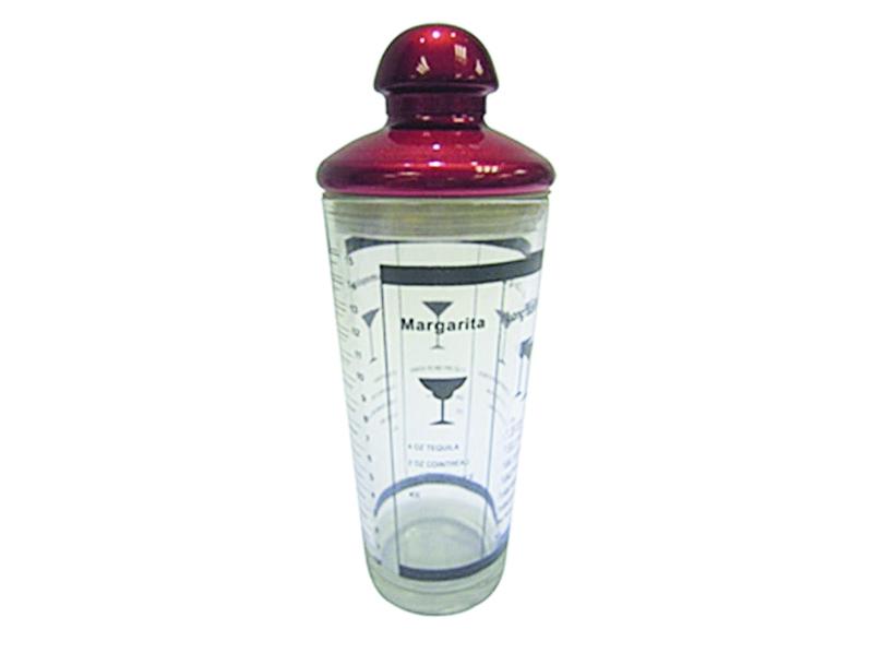 Шейкер Fackelmann Grand Cru, цвет: красный, 400 мл49735Шейкер Fackelmann Grand Cru - это удобное устройство для приготовлениясмешанных напитков и коктейлей. Он изготовлен из высококачественного стекла.Основа цветной крышки выполнена из нержавеющей стали. Сама крышка оснащена удобнойручкой и силиконовым уплотнителем, благодаря которому она плотно закрываетсяипредотвращает содержимое шейкера от проливания. На внешние стенки изделиянанесены мерная шкала в унциях и рецепты популярных коктейлей.Вы любитель экзотических коктейлей, но времени сходить в бар у вас нет? Нерасстраивайтесь. С помощью этого шейкера вы сможете приготовить самыйэкзотический смешанный напиток у себя дома, чем приятно удивите гостей,родных и близких вам людей. Почувствуйте себя профессиональным барменом!Можно мыть в посудомоечной машине.