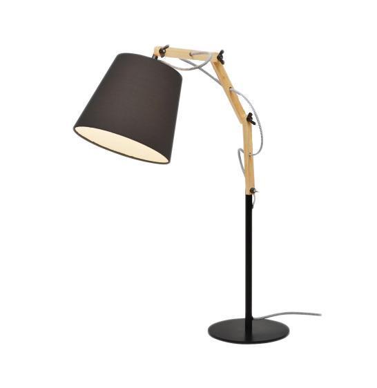 A5700LT-1BK PINOCCIO Настольная лампа 1xE27 60WМатериал: Арматура: МДФ, металл крашенный / Плафон: ТканьЦвет: Арматура: Черный / Плафон: ЧерныйРазмер: 63x20x55