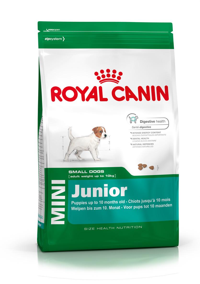 Корм сухой Royal Canin Mini Junior, для щенков мелких пород в возрасте от 2 до 10 месяцев, 4 кг корм сухой royal canin german shepherd junior для щенков собак породы немецкая овчарка до 15 месяцев 12 кг