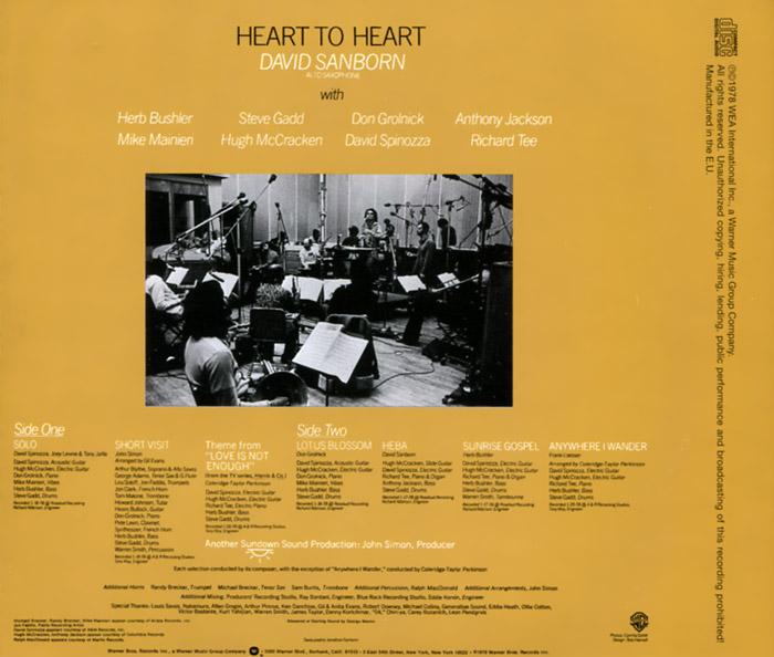 David Sanborn.  Heart To Heart Warner Music,Wea International Inc.