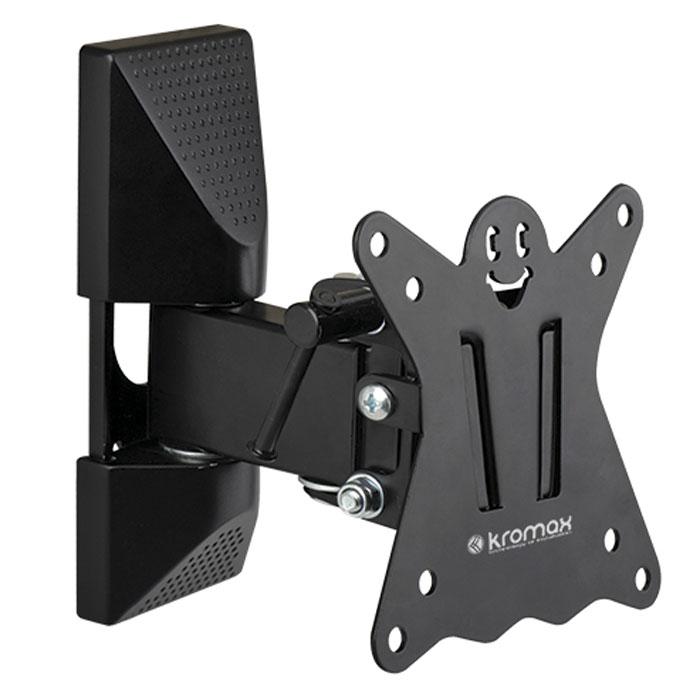 Kromax Casper-102, Black настенный кронштейн для ТВCASPER-102Оригинальный наклонно-поворотный кронштейн Kromax Casper-102 идеально подходит для всех LED/LCD телевизоров с диагональю экрана от 10 до 26 дюймов.Предусмотрена удобная и простая установка, благодаря встроенному водяному уровню и съемной монтажной пластине.