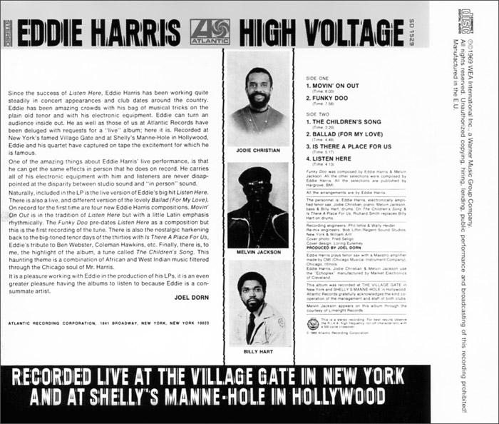Eddie Harris.  High Voltage Warner Music,Wea International Inc.