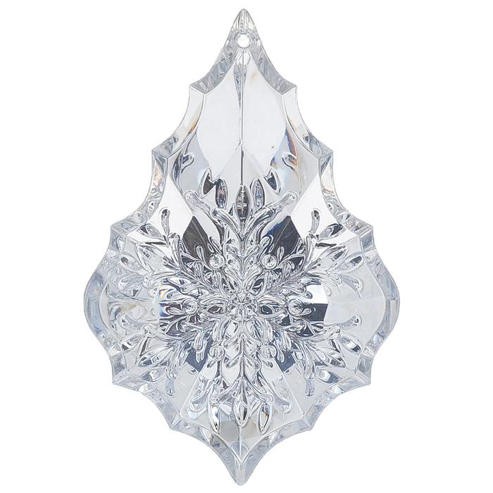 Новогоднее подвесное украшение Феникс-Презент Капелька, цвет: серебристый, 6,5 см х 10 см