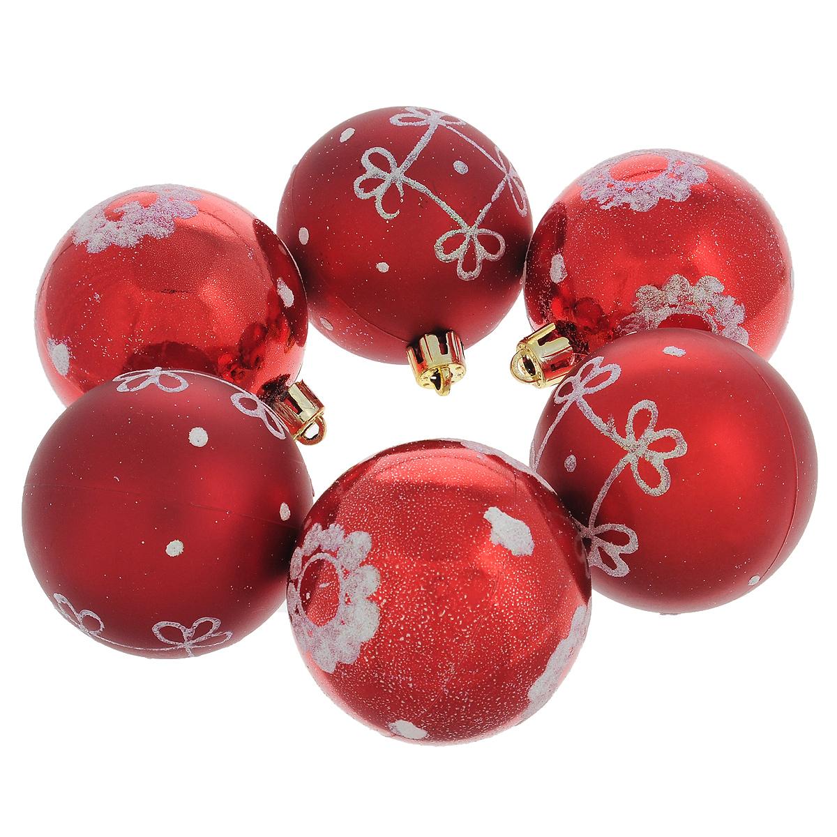 Набор новогодних подвесных украшений Шар, цвет: красный, 6 шт. 3550635506Набор новогодних подвесных украшений Шар прекрасно подойдет для праздничного декора новогодней ели. Состоит из шести шаров.Елочная игрушка - символ Нового года. Она несет в себе волшебство и красоту праздника. Создайте в своем доме атмосферу веселья и радости, украшая новогоднюю елку нарядными игрушками, которые будут из года в год накапливать теплоту воспоминаний. Коллекция декоративных украшений принесет в ваш дом ни с чем несравнимое ощущение волшебства! Откройте для себя удивительный мир сказок и грез. Почувствуйте волшебные минуты ожидания праздника, создайте новогоднее настроение вашим дорогим и близким.