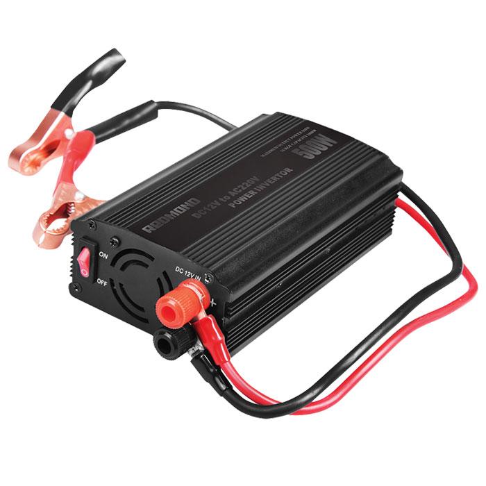 Redmond RIA-5012 инвертор автомобильныйRIA-5012Автомобильный инвертор Redmond RIA-5012 - уникальный прибор, позволяющий использовать привычную бытовую технику в дороге и путешествии. Он совместим с любыми электроприборами номинальной мощностью до 400 Вт. Не требует переходников и абсолютно безопасен даже при длительном использовании.Выходное напряжение: 220 В Выходная мощность (номинальная): 500 Вт Мощность подключаемых приборов: до 400 ВтВыходное напряжение порта USB: 5 В Предохранители: 2 х 30 А Выходная эффективность 90,5%Выходной сигнал: модифицированная синусоида2 соединительных провода по 2 метраВыходы: универсальная евророзетка, USB-портПринудительное охлаждение