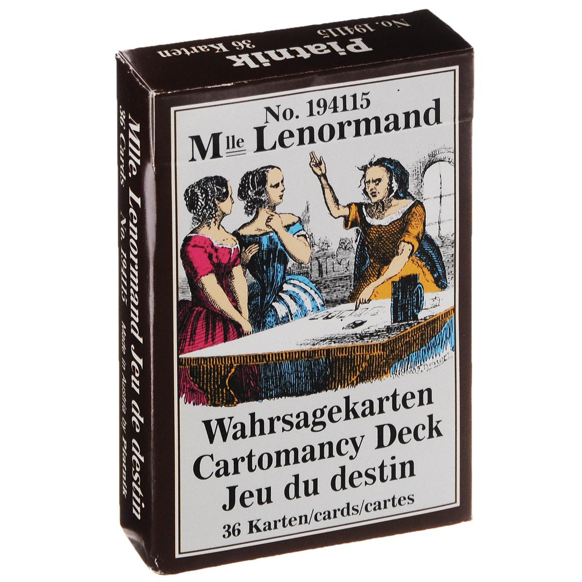 цена на M-lle Lenormand: Wahrsagekarten Cartomancy Deck: Jeu du destin