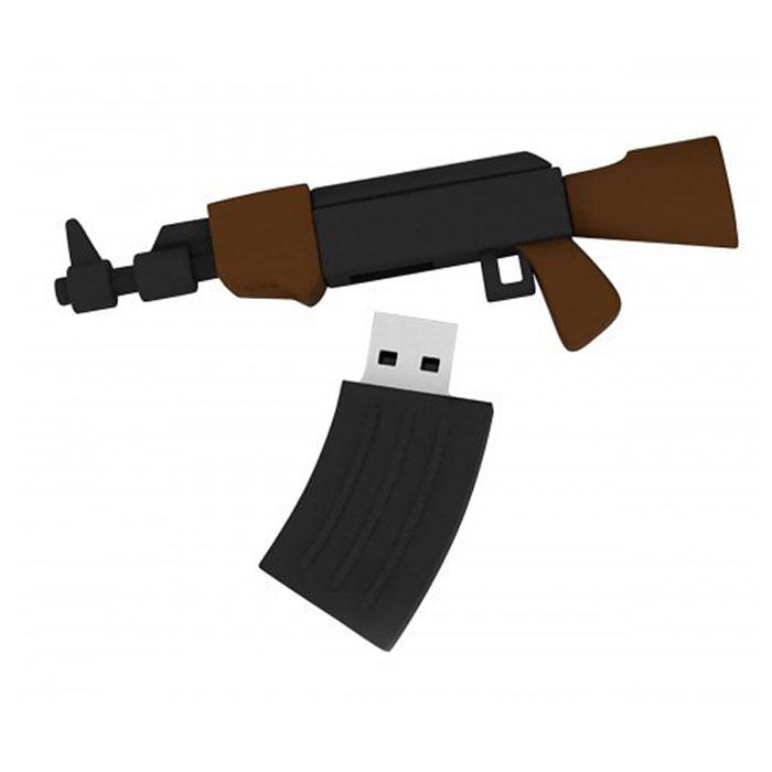 Iconik AK74 8GB USB-накопительRB-AK74-8GBФлеш-накопитель Iconik RB-AK74 имеет весьма нестандартный дизайн, он сделан в виде автомата. Накопитель ударопрочный и защищен резиновым корпусом, а высокая пропускная способность и поддержка различных операционных систем делают его незаменимым. Iconik RB-AK74 - отличный выбор современного творческого человека, который любит яркие и нестандартные вещи.