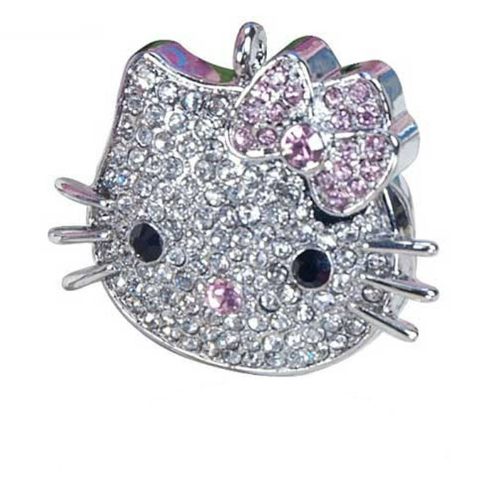 Iconik Hello Kitty Swarovski Сrystal 16GB, Silver USB-накопитель usb накопитель apacer ah117 16gb silver rp ap16gah117s 1