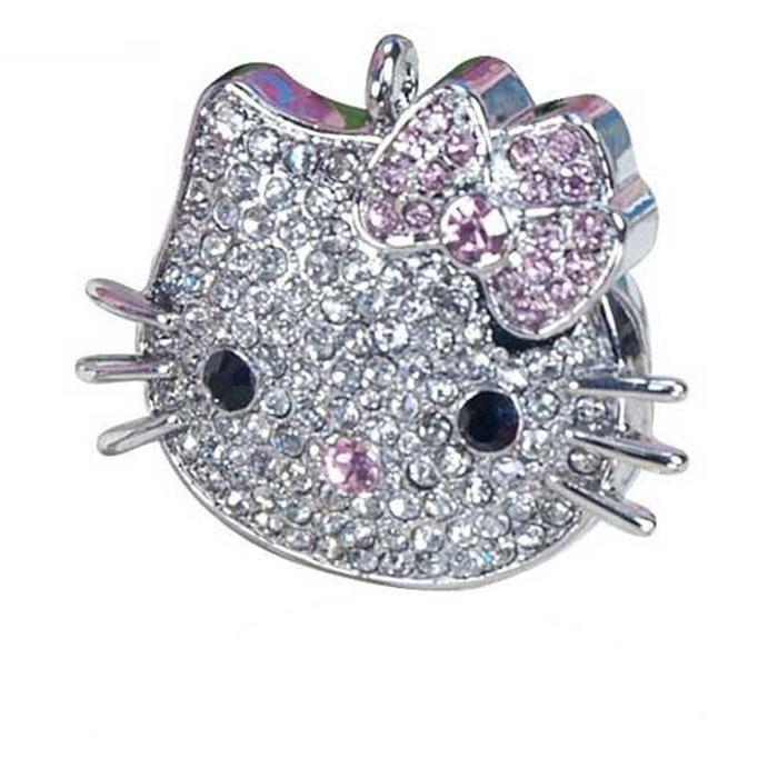 Iconik Hello Kitty Swarovski Сrystal 8GB, Silver USB-накопитель - Носители информации