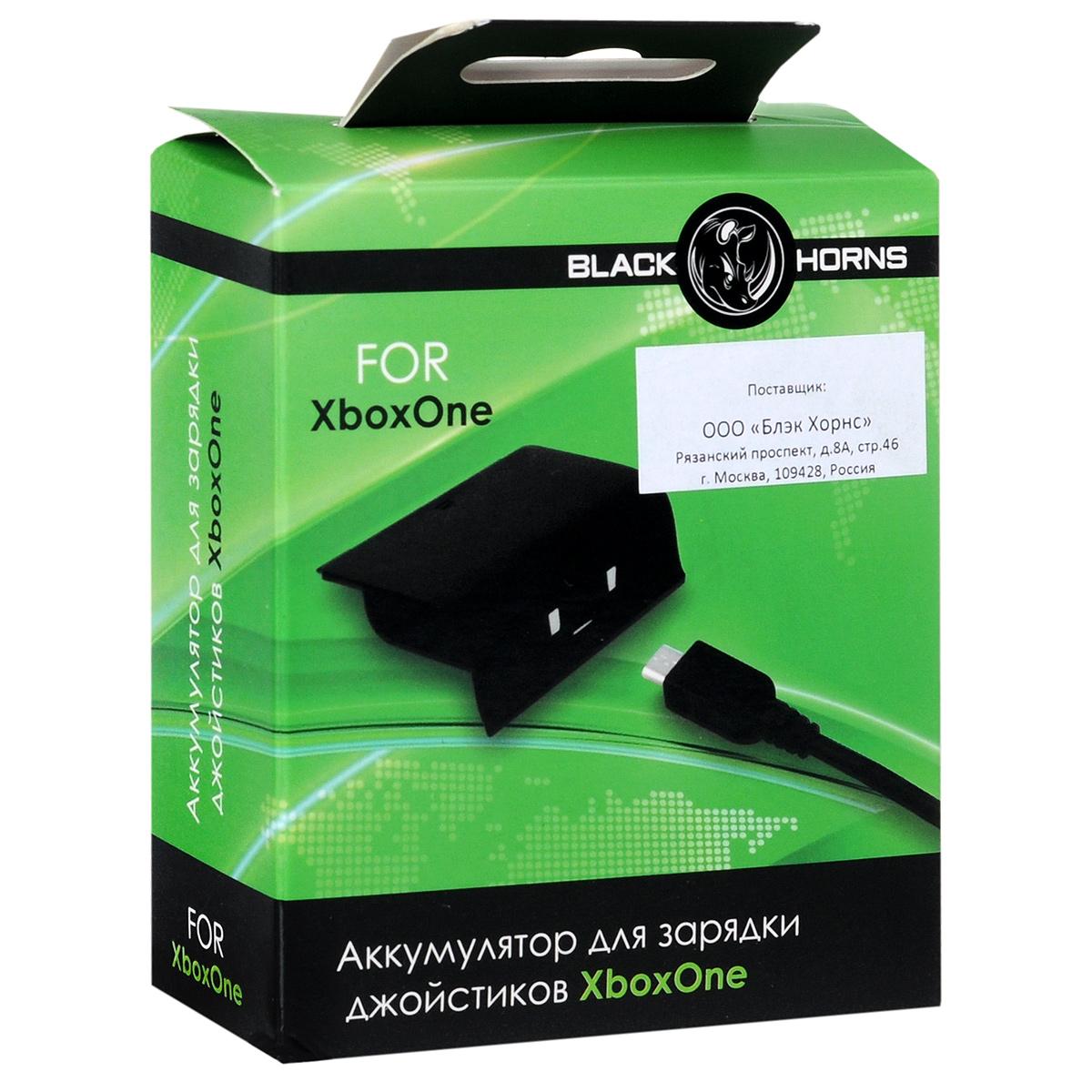 Аккумулятор Black Horns для геймпада Xbox One Black Horns