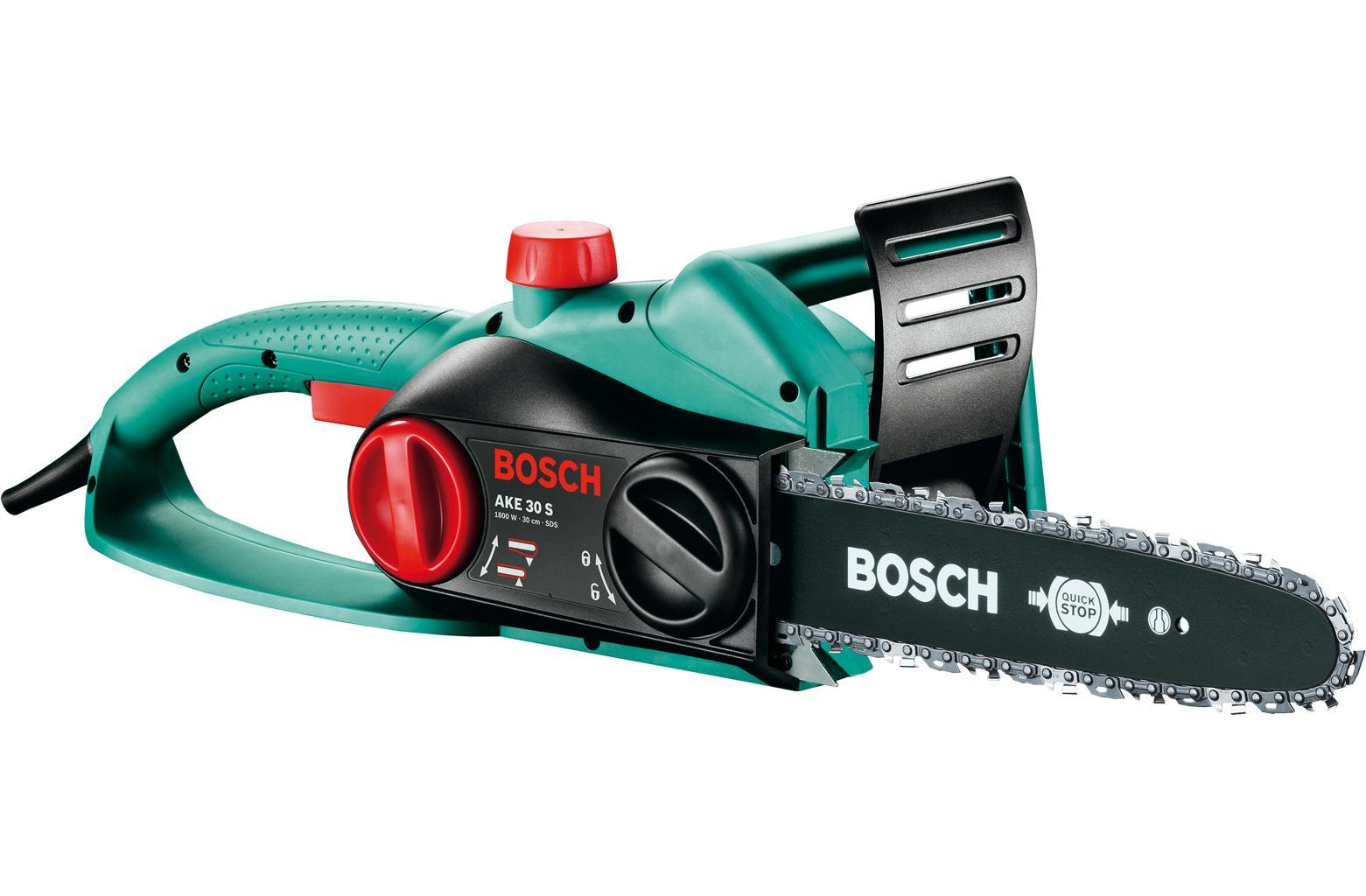 Цепная пила Bosch AKE 30 S 0600834400Ake 30 sЦепная пила Bosch AKE 30 S - прочный и универсальный инструмент, который отлично подойдет начинающим пользователям и любителям. Автоматический тормоз и система установки цепи SDS сделают работу с этой пилой безопасной, а ее обслуживание простым.