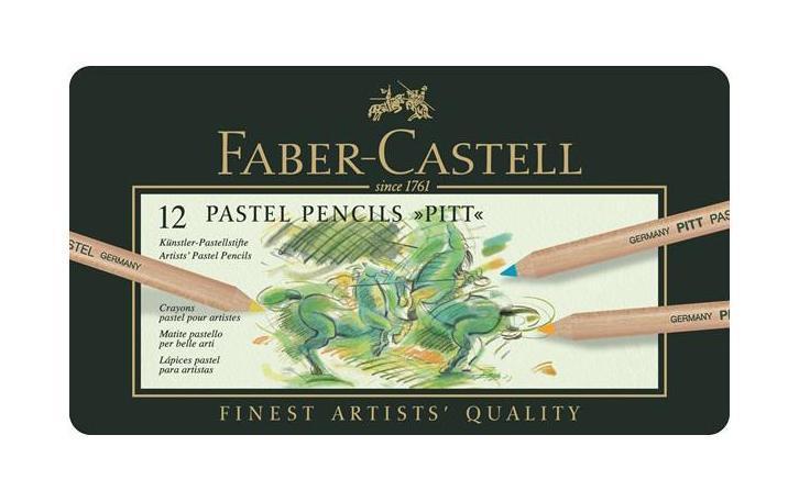Пастельные карандаши PITT®, набор цветов, в металлической коробке, 12 шт.291200 Faber Castell PITT 112112 - это пастельные карандаши высокого качества, устойчивые к выцветанию. Они не содержат воска, имеют исключительно толстые грифели 4.3 мм. Вид карандаша: цветной. Материал: дерево.