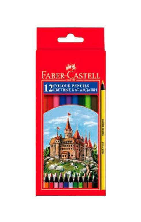 Цветные карандаши COLOUR PENCILS, набор цветов в картонной коробке, 12 шт. faber castell 48colors water colored pencil set lapis de cor profissional brand safety non toxic prismacolor color pencils