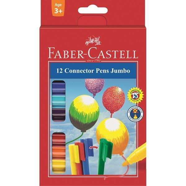 Фломастеры с клипом JUMBO, в картонной коробке, 12 шт. карандаши цветные bic бик kids tropicolors 2 набор 12 цветов в картонной упаковке