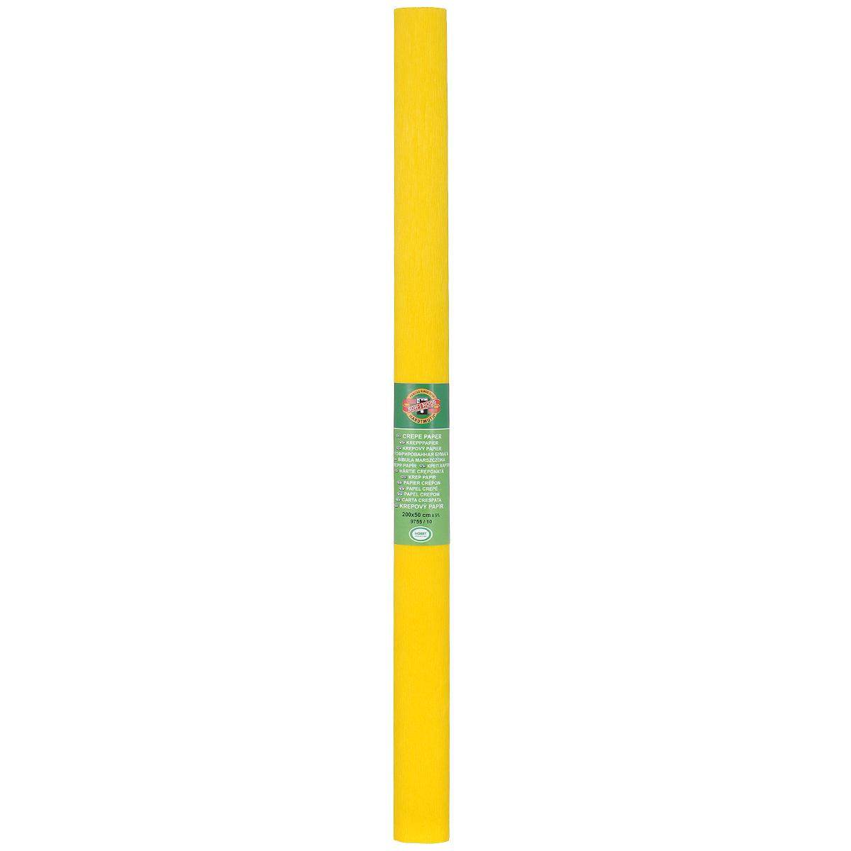 Бумага гофрированная Koh-I-Noor, цвет: темно-желтый, 50 см x 2 м9755/10Гофрированная бумага Koh-I-Noor - прекрасный материал для декорирования, изготовления эффектной упаковки и различных поделок. Бумага прекрасно держит форму, не пачкает руки, отлично крепится и замечательно подходит для изготовления праздничной упаковки для цветов.