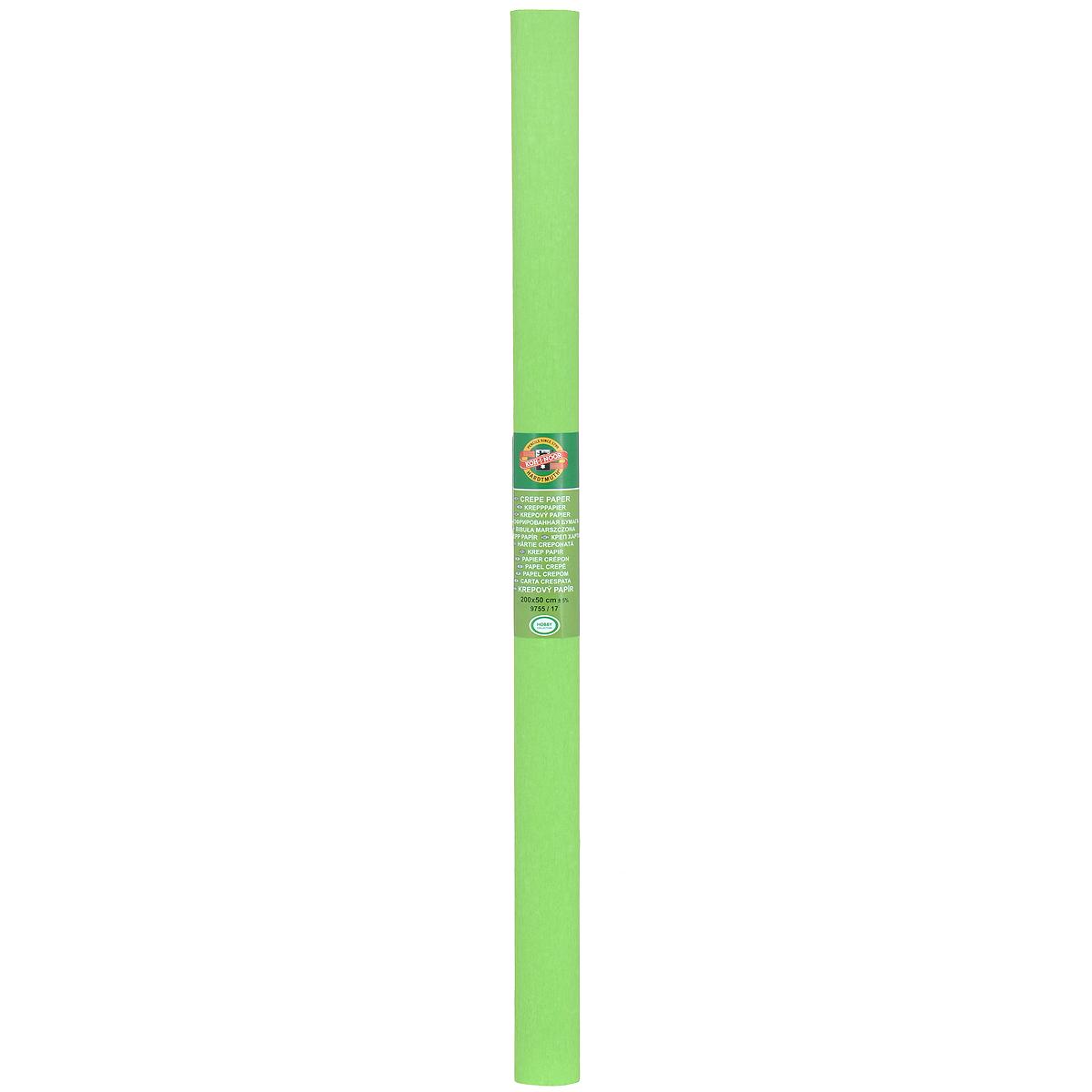 Бумага гофрированная Koh-I-Noor, цвет: светло-зеленый, 50 см x 2 м9755/17Гофрированная бумага Koh-I-Noor - прекрасный материал для декорирования, изготовления эффектной упаковки и различных поделок. Бумага прекрасно держит форму, не пачкает руки, отлично крепится и замечательно подходит для изготовления праздничной упаковки для цветов.
