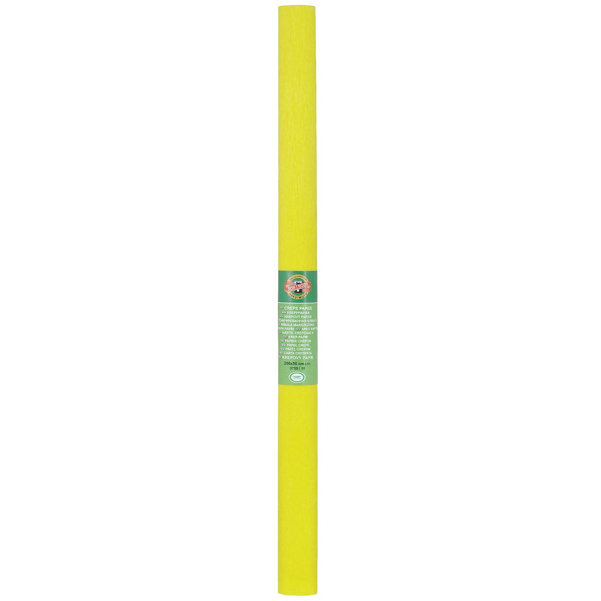 Бумага крепированная Koh-I-Noor, цвет: желтый, 50 см x 2 м9755/09Гофрированная бумага Koh-I-Noor - прекрасный материал для декорирования, изготовления эффектной упаковки и различных поделок. Бумага прекрасно держит форму, не пачкает руки, отлично крепится и замечательно подходит для изготовления праздничной упаковки для цветов.