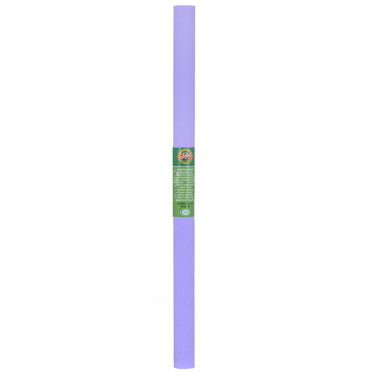 Бумага гофрированная Koh-I-Noor, цвет: сиреневый, 50 см x 2 м9755/28Гофрированная бумага Koh-I-Noor - прекрасный материал для декорирования, изготовления эффектной упаковки и различных поделок. Бумага прекрасно держит форму, не пачкает руки, отлично крепится и замечательно подходит для изготовления праздничной упаковки для цветов.