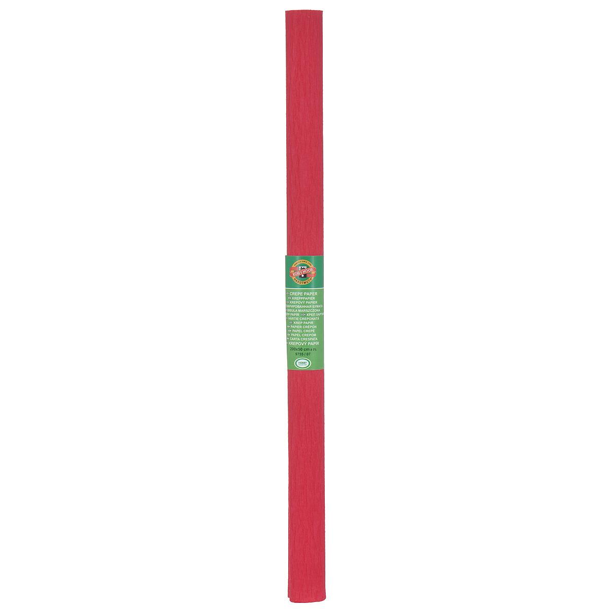 Бумага гофрированная Koh-I-Noor, цвет: темно-красный, 50 см x 2 м9755/07 тем.крас.Гофрированная бумага Koh-I-Noor - прекрасный материал для декорирования, изготовления эффектной упаковки и различных поделок. Бумага прекрасно держит форму, не пачкает руки, отлично крепится и замечательно подходит для изготовления праздничной упаковки для цветов.