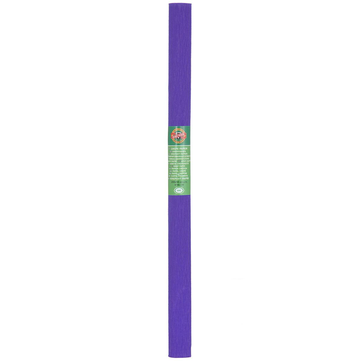 Бумага гофрированная Koh-I-Noor, цвет: темно-сиреневый, 50 см x 2 м9755/29Гофрированная бумага Koh-I-Noor - прекрасный материал для декорирования, изготовления эффектной упаковки и различных поделок. Бумага прекрасно держит форму, не пачкает руки, отлично крепится и замечательно подходит для изготовления праздничной упаковки для цветов.