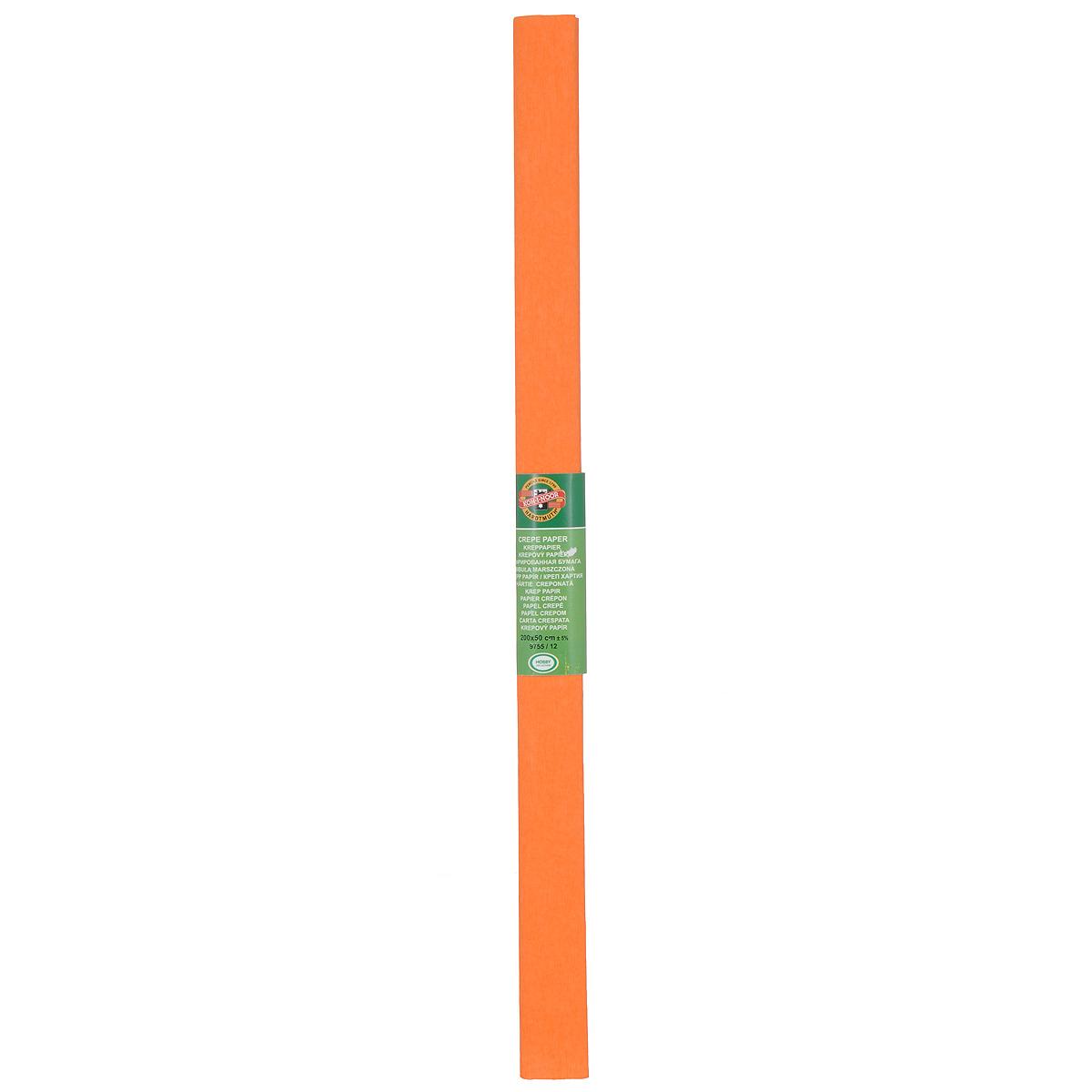 Бумага гофрированная Koh-I-Noor, цвет: оранжевый, 50 см x 2 м9755/12Гофрированная бумага Koh-I-Noor - прекрасный материал для декорирования, изготовления эффектной упаковки и различных поделок. Бумага прекрасно держит форму, не пачкает руки, отлично крепится и замечательно подходит для изготовления праздничной упаковки для цветов.