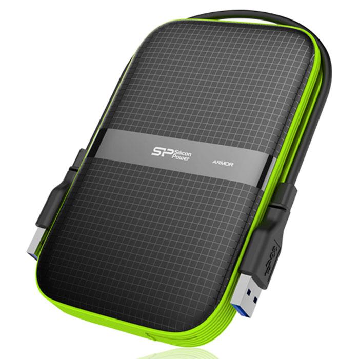 Silicon Power Armor A60 1TB, Black внешний жесткий диск - Носители информации