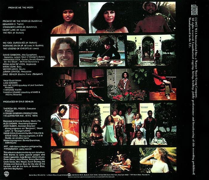 David Sanborn.  Promise Me the Moon Warner Music,Wea International Inc.