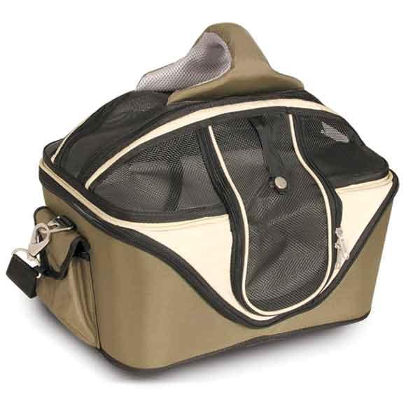 Переноска для кошек Triol, цвет: темно-зеленый, 53 см х 43 см х 41 смDCC3011LПереноска для кошек Triol изготовлена из плотного материала, не пропускающего солнечных лучей и защищающего животное от дождя и ветра. Жесткий каркас позволит сохранить форму сумки и обеспечит долгий срок службы. Вход расположен сверху и сбоку, закрывается прочным сетчатым полотном при помощи надежной молнии. По бокам расположены два кармана на липучке для хранения аксессуаров. Внутри предусмотрена отстегивающаяся зимняя лежанка из овчины, на которой вашему питомцу будет комфортно и тепло. Короткий поводок для фиксации животного обеспечивает его безопасность и не позволяет ему выпрыгнуть или выпасть из переноски. При желании сетчатое полотно можно снять и использовать переноску как лежанку. В комплекте предусмотрен наплечный ремень регулируемой длины с мягкой вставкой для плеча. Благодаря удобной мягкой ручке, переноску также удобно нести в руке. Переноска для кошек Triol - современная удобная транспортировка животного. Может использоваться для собак миниатюрных и мелких пород и кошек.