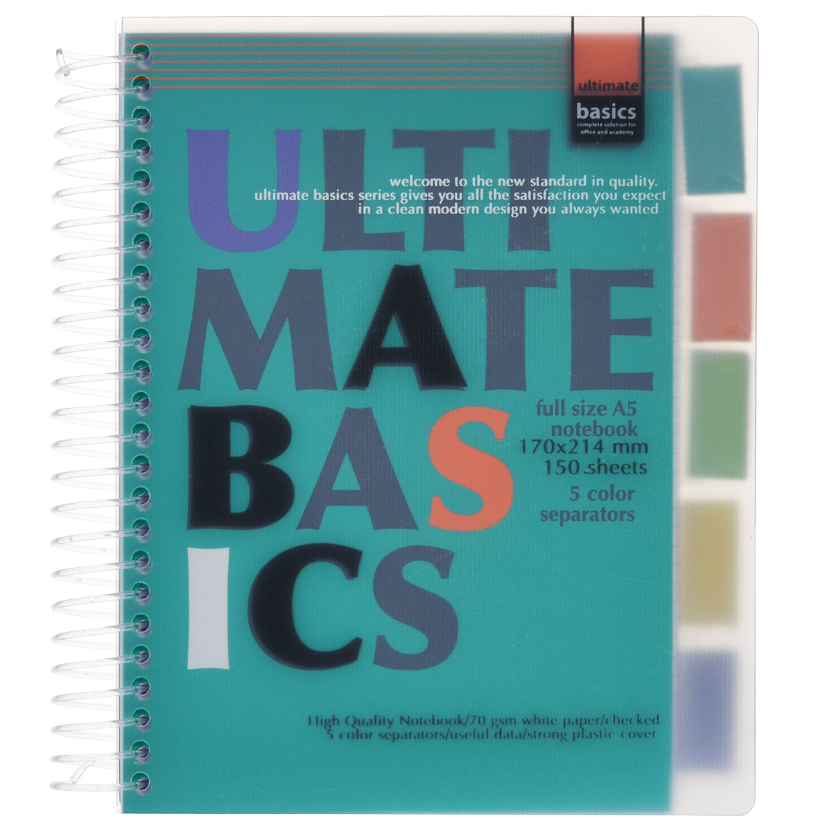 Бизнес-блокнот Ultimate Basics, цвет: зеленый, 150 листов. Формат А5 блокнот серия natural формат а5 140 стр темно бордовый в клетку