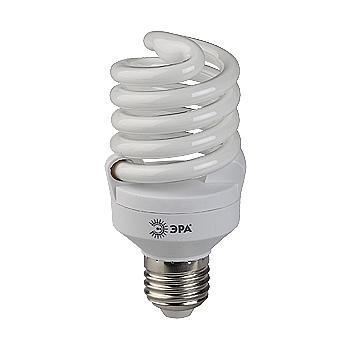 ЭРА F-SP-20-865-E27 дневной светF-SP-20-865-E27Энергосберегающие лампы PREMIUM по своим габаритам не больше обычной лампы накаливания. Это позволит с легкостью заменить все лампочки в доме на энергосбере гающие.