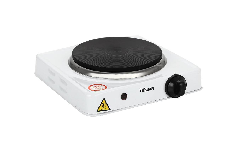 Tristar KP-6185 плита настольнаяKP-6185Одноконфорочная электроплитка TRISTAR предназначена для разогрева и приготовления блюд. Отличный дачный вариант или как дополнительный источник. Диаметр нагревательного элемента электроплитки 15 см. Плитка имеет регулируемый термостат, проста в использовании. Для удобства в пользовании электроплитка имеет нескользящие ножки.