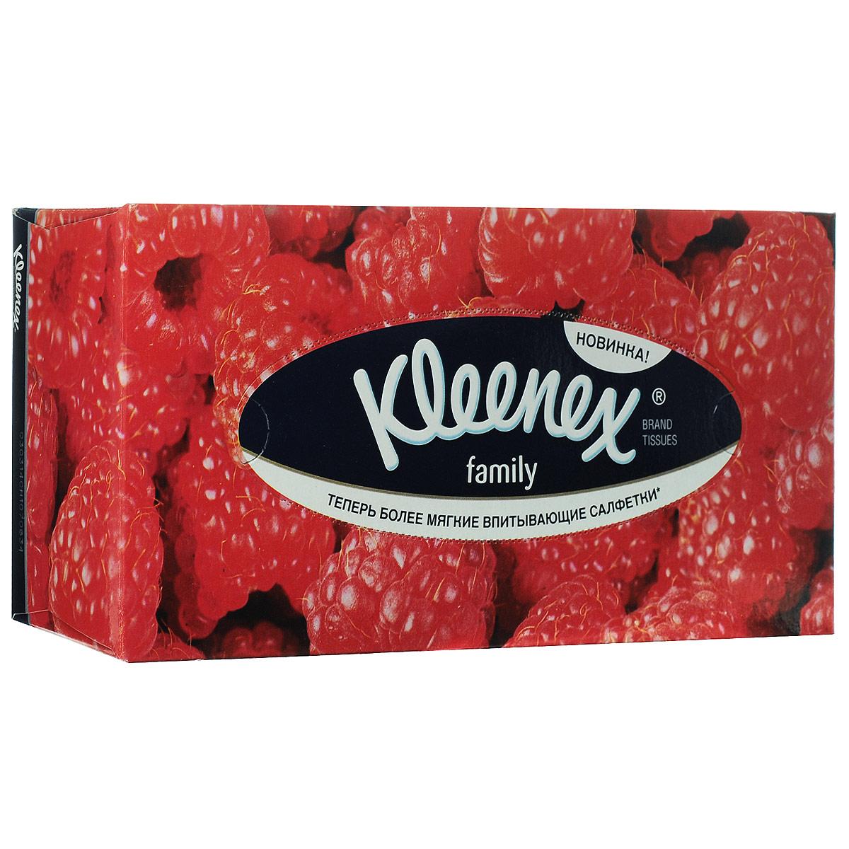Салфетки универсальные Kleenex Family, двухслойные, 21,6 см х 21,6 см, 150 шт. 94804059480405