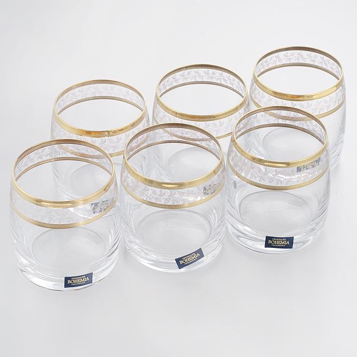 Набор бокалов для виски Crystalite Bohemia Ideal, 290 мл, 6 шт набор бокалов для бренди коралл 40600 q8105 400 анжела