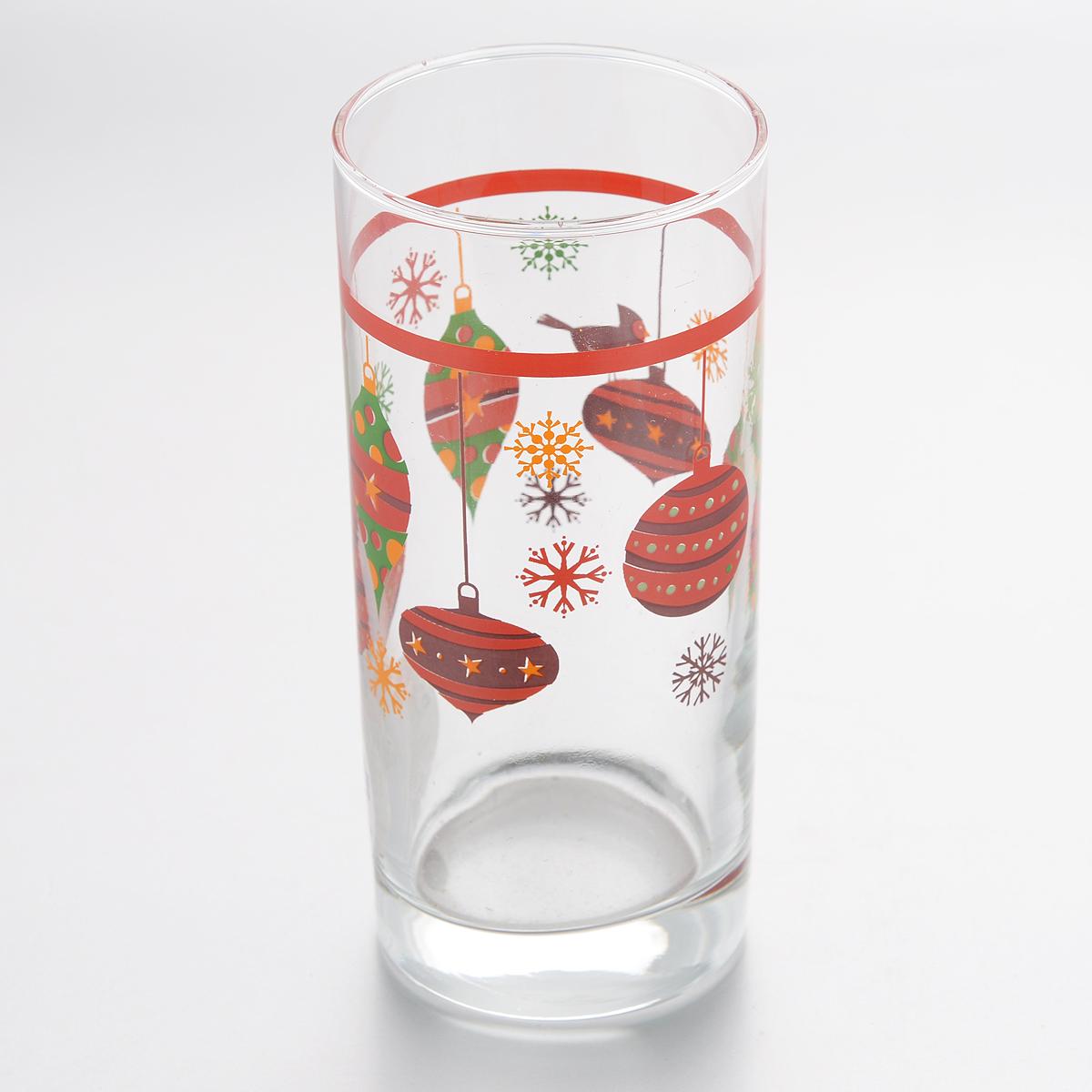 Стакан Pasabahce Christmas Toys, 287 мл25015/431842/290Стакан Pasabahce Christmas Toys изготовлен из прочного стекла и оформлен красочным изображением новогодних игрушек.Такой стакан станет прекрасным дополнением к коллекции ваших кухонных аксессуаров.