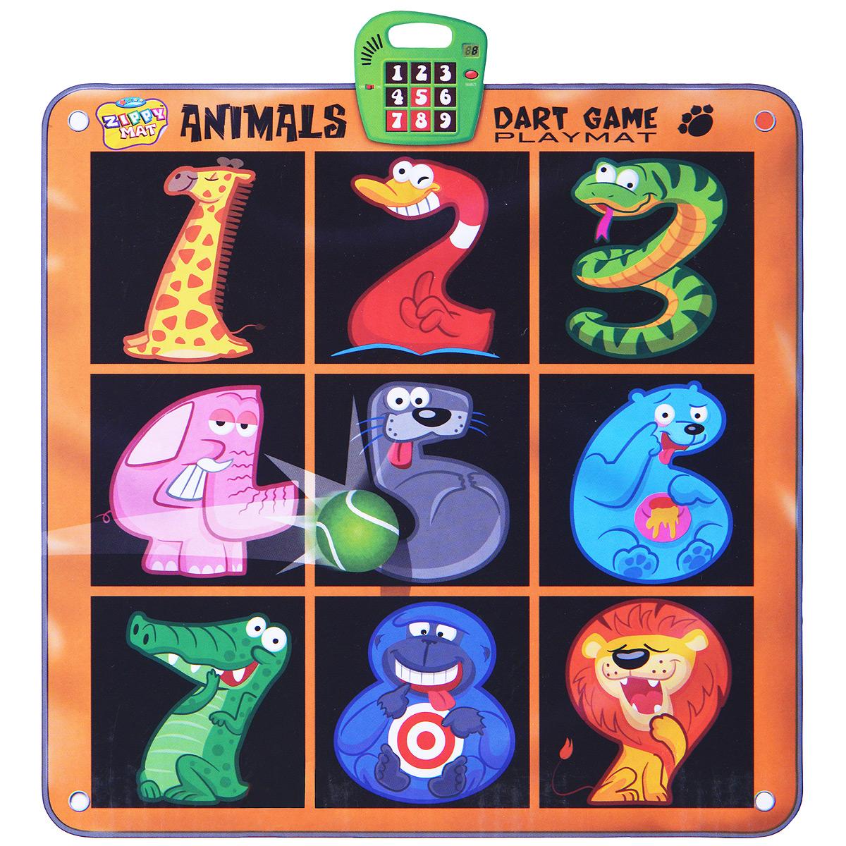 Музыкальный развивающий коврик-дартс Зоопарк rong lin