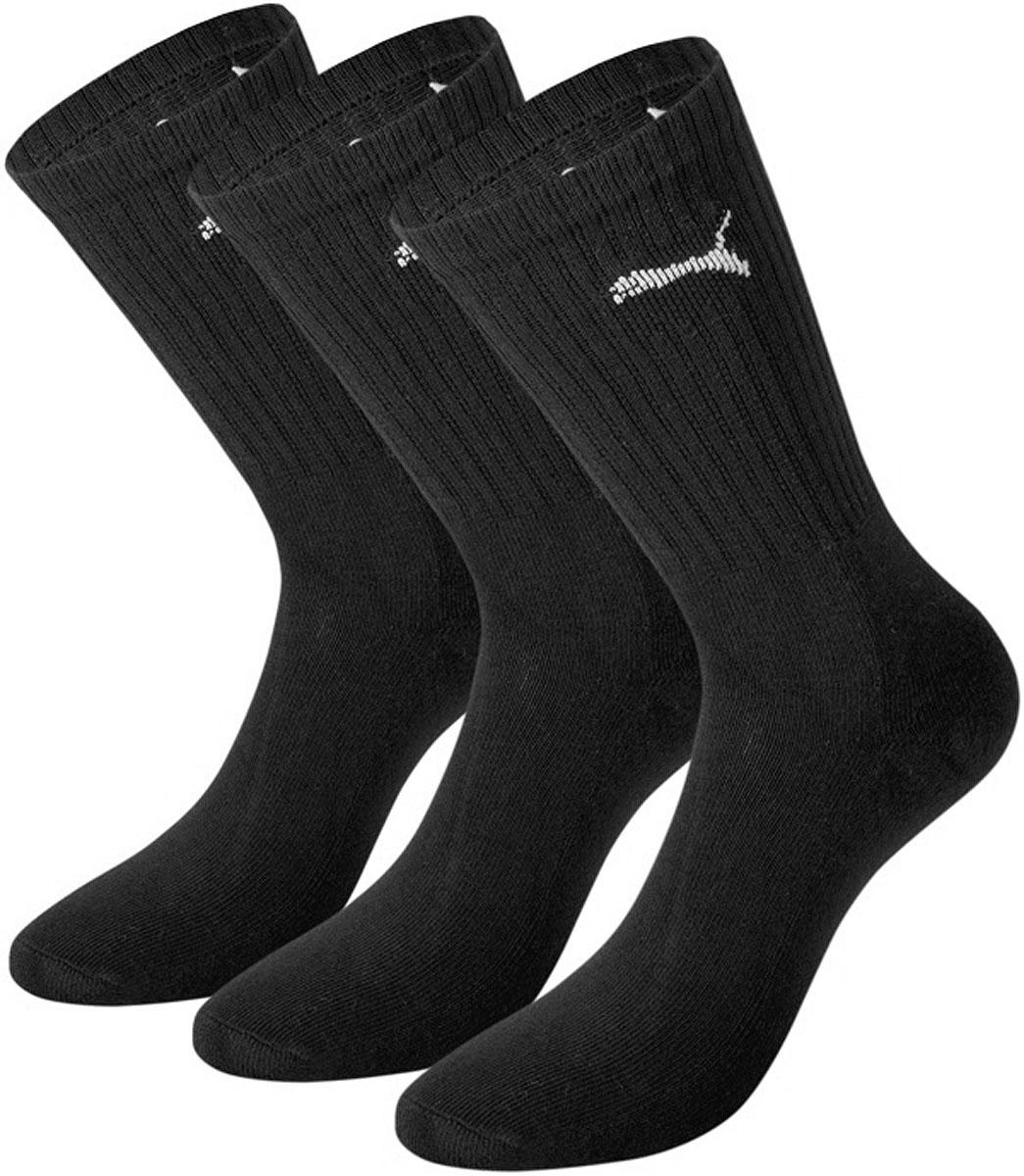 Носки мужские Puma Sport, цвет: черный, 3 пары. 88035501. Размер 47/49 носки мужские puma sport цвет черный 3 пары 88035501 размер 47 49