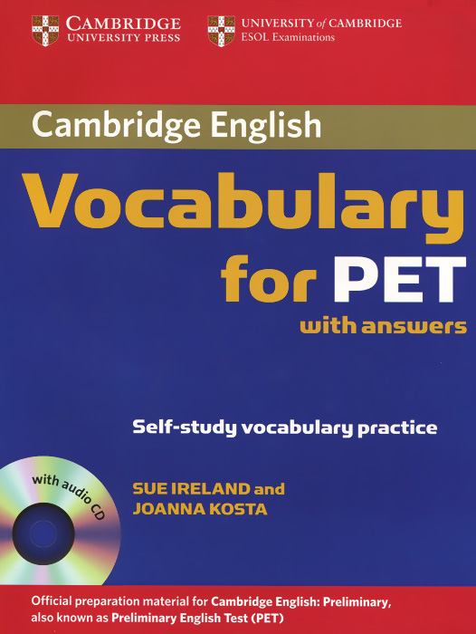 Vocabulary for PET with Answers (+ аудиокурс на CD) objective pet workbook with answers