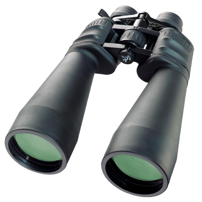 Bresser Spezial-Zoom 12-36x70 бинокль32317Бинокль Bresser Spezial-Zoomar 12-36x70 – мощная светосильная модель с переменным увеличением в диапазоне12-36х. Высокие увеличения вызывают дрожание картинки, поэтому данная модель рекомендуется киспользованию со штатива. Бинокль легко устанавливается на штатив при помощи специального адаптера(входит в комплект). Уникальной особенностью модели является то, что она подходит для астрономическихнаблюдений, это стало возможным благодаря 70-миллиметровой апертуре.Оптические характеристики бинокля Spezial-Zoomar 12-36x70 порадуют наблюдателя, ведь все оптическиеэлементы изготавливаются из самого качественно стекла Bak-4 и имеют многослойное просветление. Именно этогарантирует превосходное качество передачи наблюдаемых объектов – картинка будет яркой, насыщенной иконтрастной. Оптика надежно защищена обрезиненным корпусом, который не позволит влаге проникнуть внутрьприбора. Кроме того, резиновое покрытие приятно на ощупь и не скользит в руках. А входящие в комплект крышкиокуляров и объективов, защитят оптику от повреждений при транспортировке. Увеличение: 12-36x