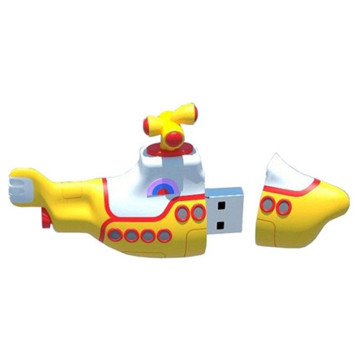 Iconik Желтая подводная лодка 8GB USB-накопитель подводная лодка подводная лодка f301 угол клапан красоты