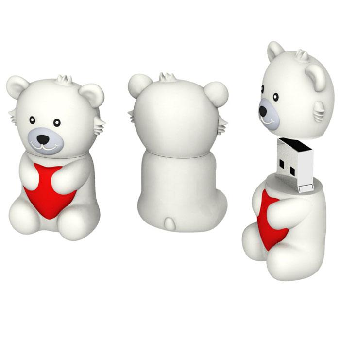 Iconik Мишка Белый Умка 8GB USB-накопитель - Носители информации