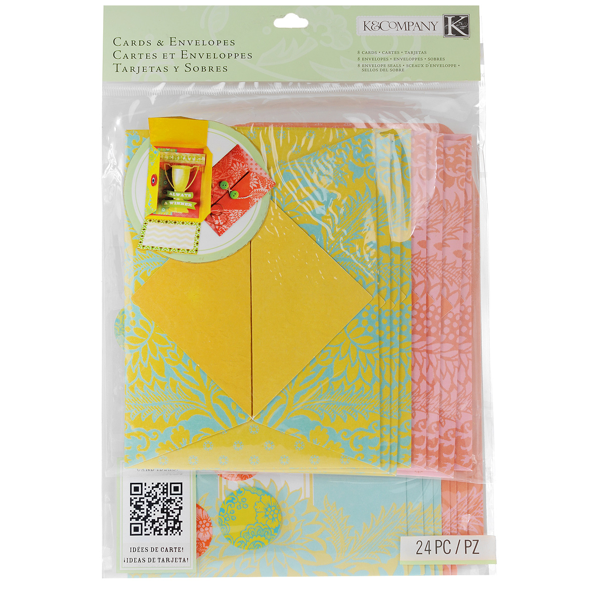 Набор открыток и конвертов для скрапбукинга K&Company Складной, 24 предметаKCO-30-658127Набор для скрапбукинга K&Company позволит создать красивые открытки собственными руками. Набор включает 8 открыток, 8 конвертов и 8 печатей двух видов.Скрапбукинг - это хобби, которое способно приносить массу приятных эмоций не только человеку, который этим занимается, но и его близким, друзьям, родным. Это невероятно увлекательное занятие, которое поможет вам сохранить наиболее памятные и яркие моменты вашей жизни, а также интересно оформить интерьер дома.