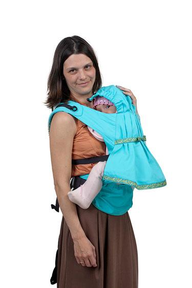 Слинг-рюкзак Чудо-Чадо  Дочкомобиль , цвет: бирюзовый -  Рюкзаки, слинги, кенгуру