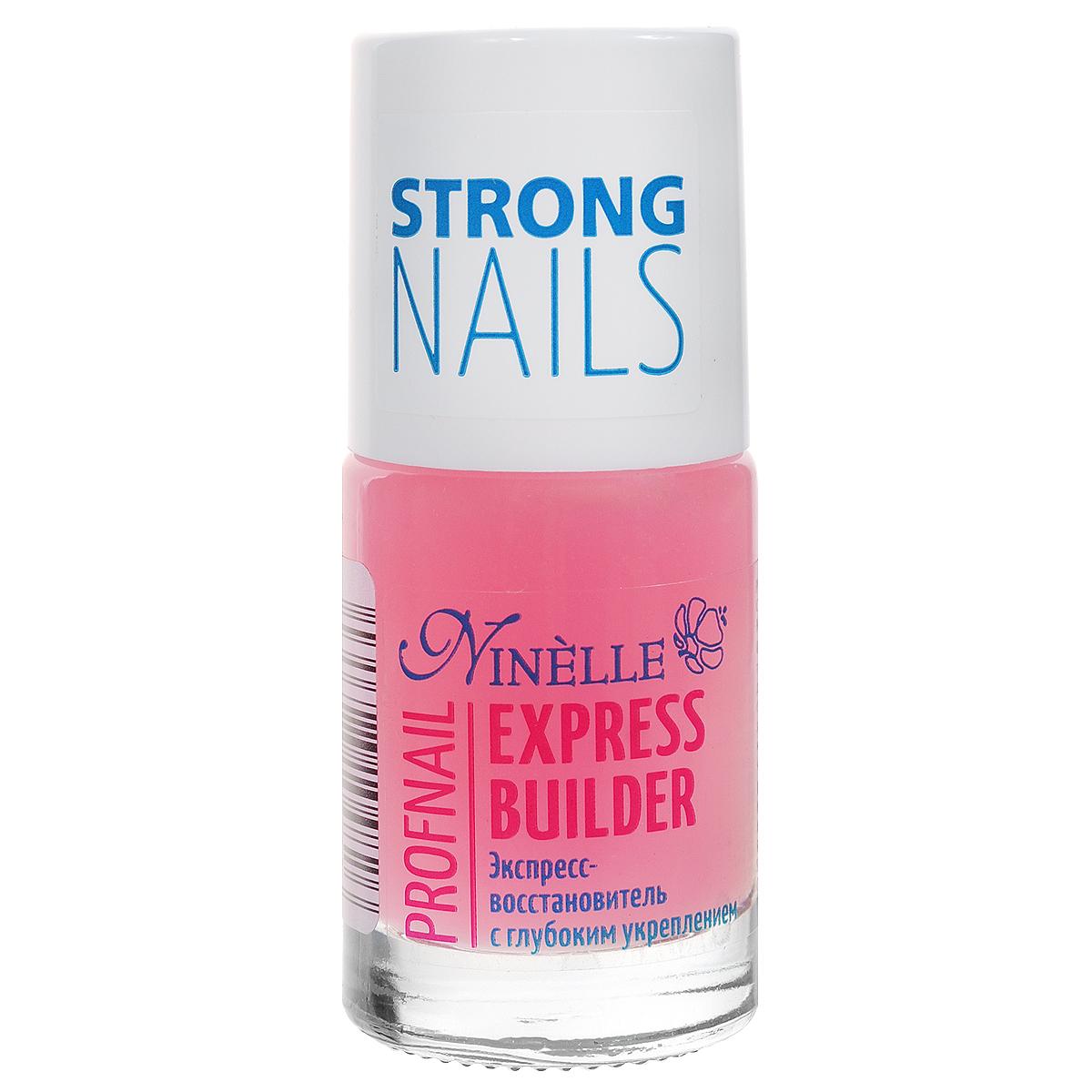 Ninelle Экспресс-восстановитель для ногтей Express Builder, с глубоким укреплением, 11 мл773N10482Средство сочетает эффективную механическую защиту с глубоким восстанавливающим действием. Лак моментально создает на поверхности ногтей защитный слой, который придает ногтям большую твердость и предохраняет их от расслаивания и ломкости.Товар сертифицирован.