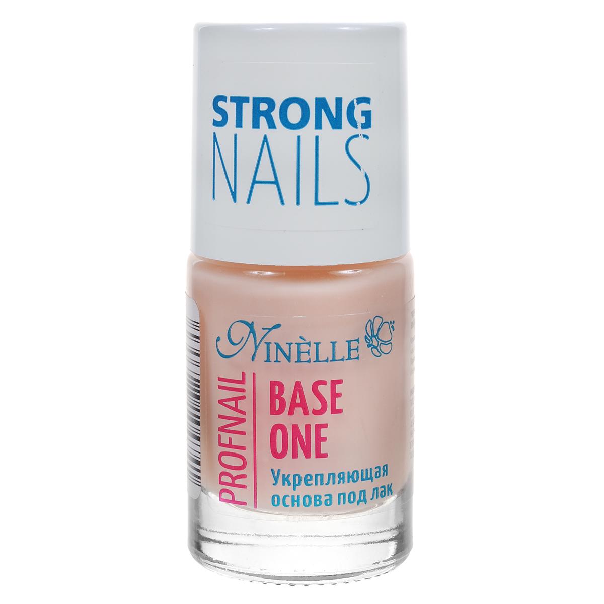 Ninelle Укрепляющая основа под лак Bace One, 11 мл765N10474Тонко сбалансированный состав с витаминами сделает Ваши ногти крепкими, здоровыми и естественными. При нанесении образуется тонкая, прозрачная пленка, которая выравнивает и сглаживает дефекты. Быстро сохнет, защищает ноготь от воздействия окружающей среды.Товар сертифицирован.