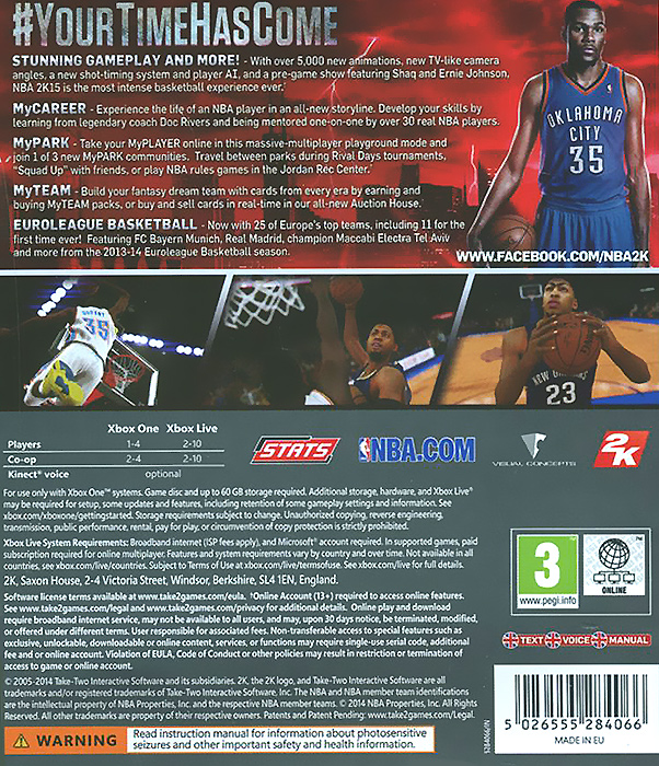 NBA 2K15 (Xbox One) Visual Concepts