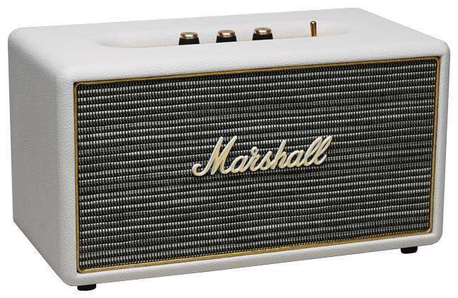 Marshall Stanmore, Cream акустическая системаStanmore CreamMarshall Stanmore - это акустическая система, совместимая с большинством аудио устройств. Небольшие размеры дают возможность использовать колонки в любом месте. Скромные с виду динамики обеспечивают вполне серьезную громкость и с легкостью озвучивают небольшое помещение или место пикника, отдыха. Для подключения можно использовать стандартный аудиоразъем 3.5 мм или Bluetooth соединение. Marshall Stanmore - прекрасное решение для всех, кто хочет слушать любимую музыку в компании друзей.