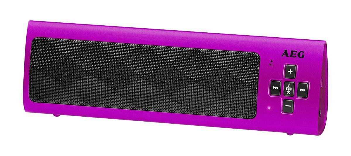 AEG BSS 4818, Pink Bluetooth-аудиосистема bluetooth аудиосистема aeg bss 4827 anthracite серый