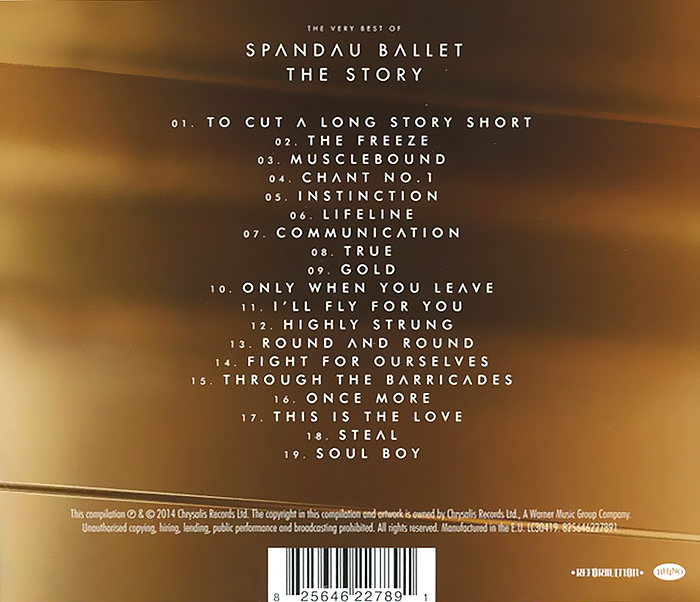 Spandau Ballet.  The Story.  The Very Best Of Warner Music,Chrysalis Records Ltd.